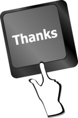 a thanks message on enter key of keyboard