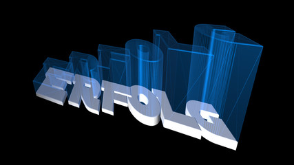 Erfolg 3D Schrift
