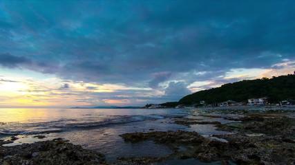 Beach sunset time lapse