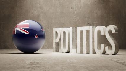 New Zealand. Politics Concept.