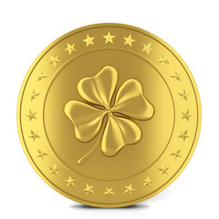 Coin with clover