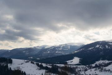 Снег горы зима Карпаты