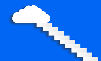 white cloud on blue sky (competition, win concept)