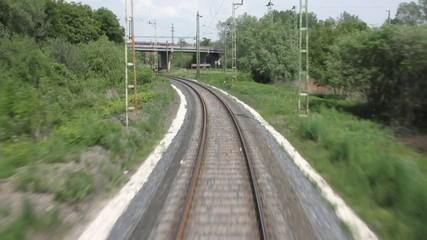 Single-line railway track