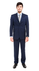 Young businessman full length