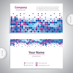 business card - science and research - abstract background