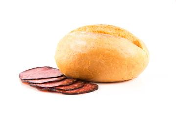 Brötchen mit Salami