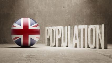 United Kingdom. Population Concept.