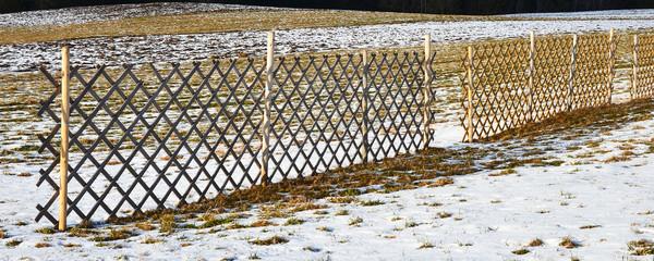 schneeverwehungen, schutzzaun