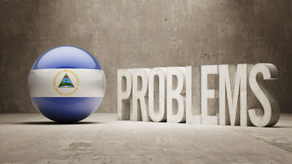 Nicaragua. Problems Concept.
