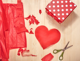 preparation for Valentine's Day
