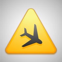 Airport  Hazard Sign