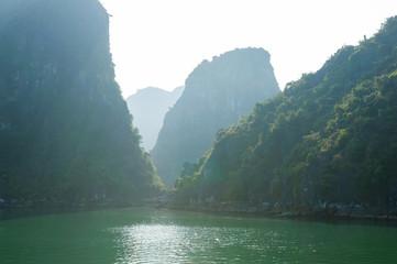 Ha Long bay rocks vietnam