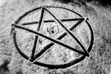 Pentagram closeup photo