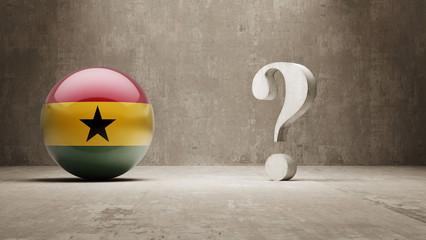 Ghana. Question Mark Concept.