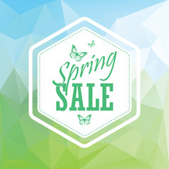 Green spring sale low polygonal landscape background with