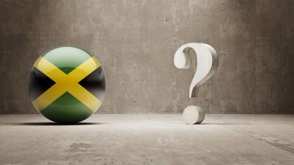Jamaica. Question Mark Concept.