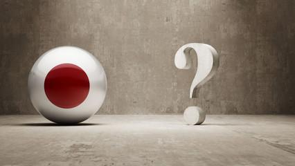 Japan. Question Mark Concept.