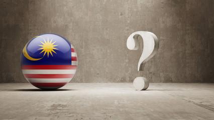 Malaysia. Question Mark Concept.