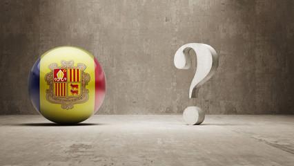Andorra. Question Mark Concept.