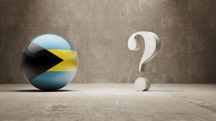 Bahamas. Question Mark Concept.