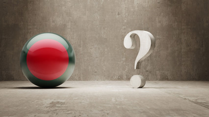 Bangladesh. Question Mark Concept.