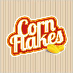 Corn flakes vector label