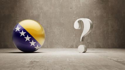 Bosnia and Herzegovina. Question Mark Concept.