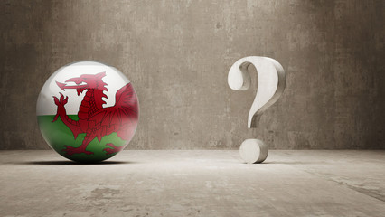 Wales. Question Mark Concept.