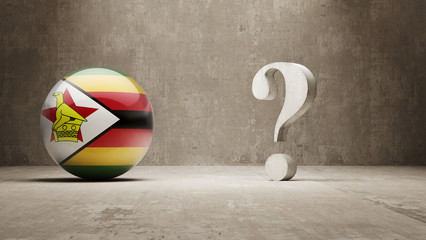 Zimbabwe. Question Mark Concept.