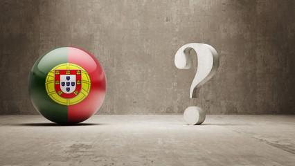 Portugal. Question Mark Concept.