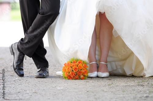Leinwanddruck Bild Hochzeitspaar
