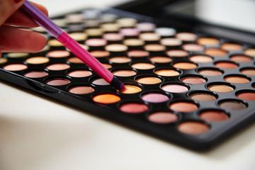 MakeUp Palette und Pinsel