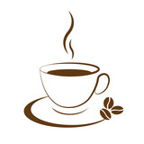 hot coffee cup icon - 77842277