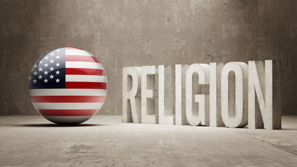 United States. Religion Concept.