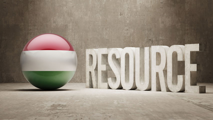 Hungary. Resource Concept.