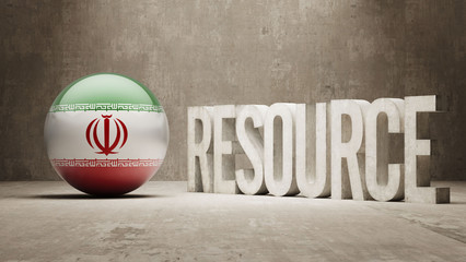Iran. Resource Concept.