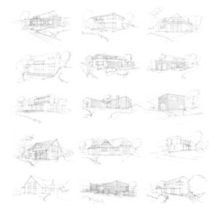 Family houses sketches