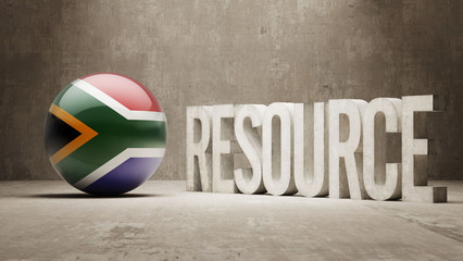 South Africa. Resource Concept.