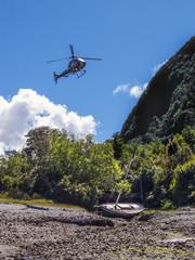 Helikopter im Landeanflug