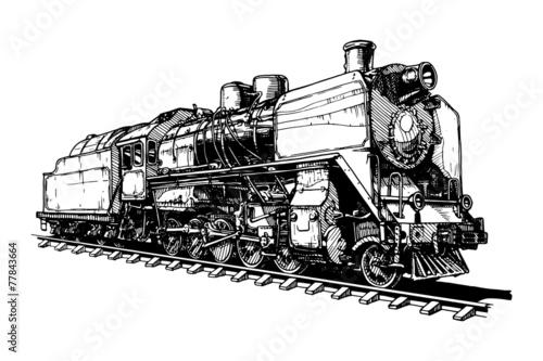 old steam locomotive - 77843664