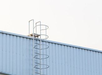 Factory ladder on the roof