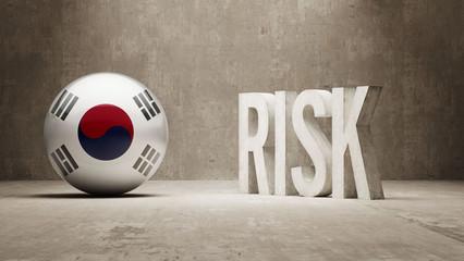 South Korea. Risk Concept.