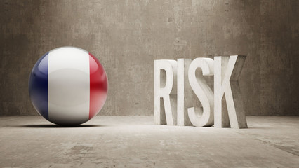 France. Risk Concept.