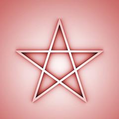Pentagramm rot