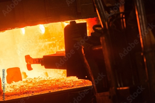 canvas print picture Hot iron in smeltery