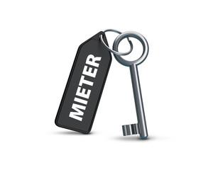 Mieter Schlüssel schwarz