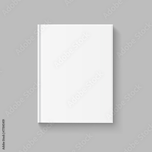 Vector Blank Cover for Book or Magazine Template - 77845419