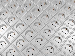 viele Steckdosen - Stromanbieterwahl