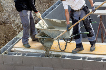 Arbeiten mit Beton